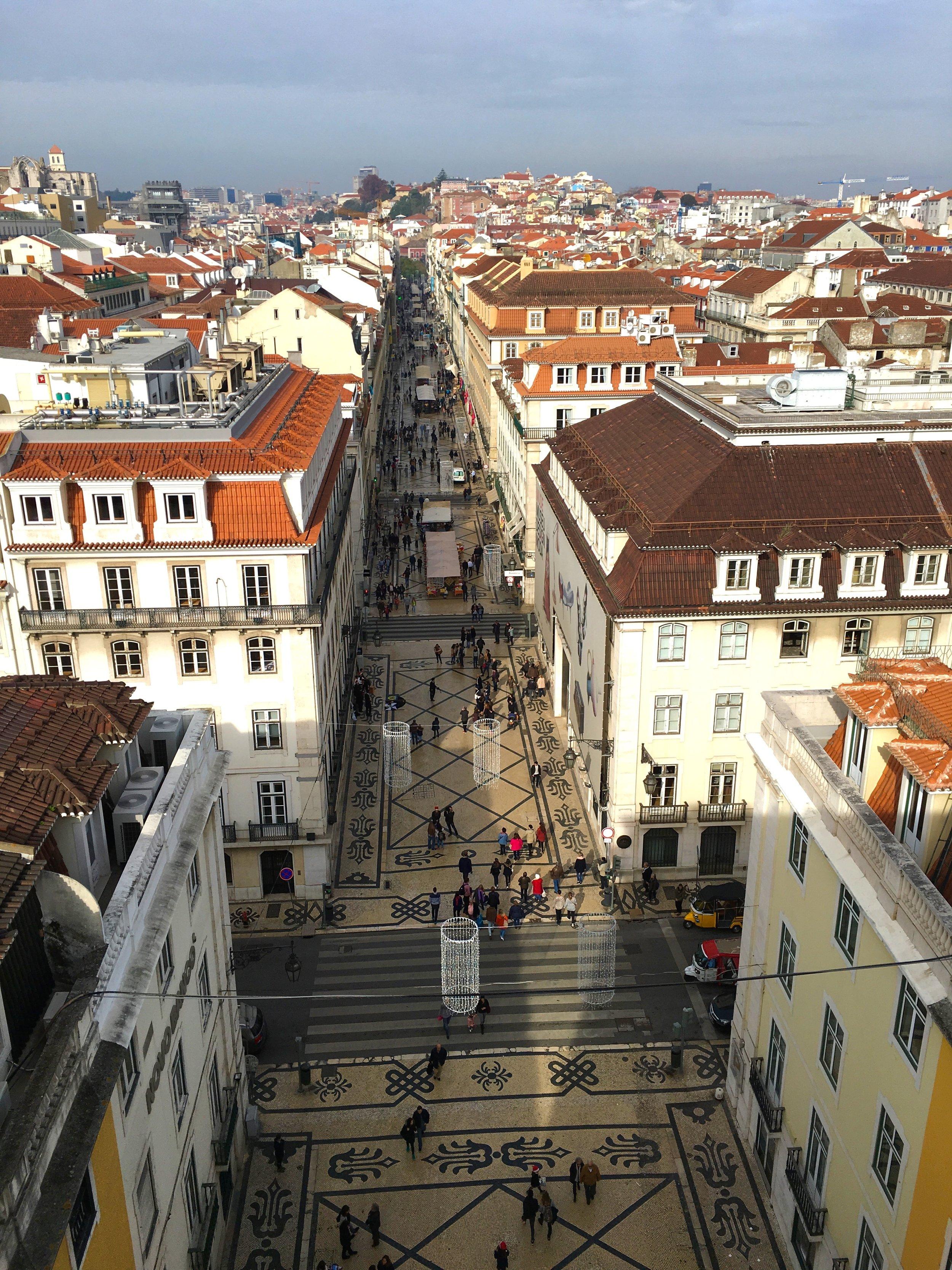 View From Arco da Rua Augusta, Lisbon