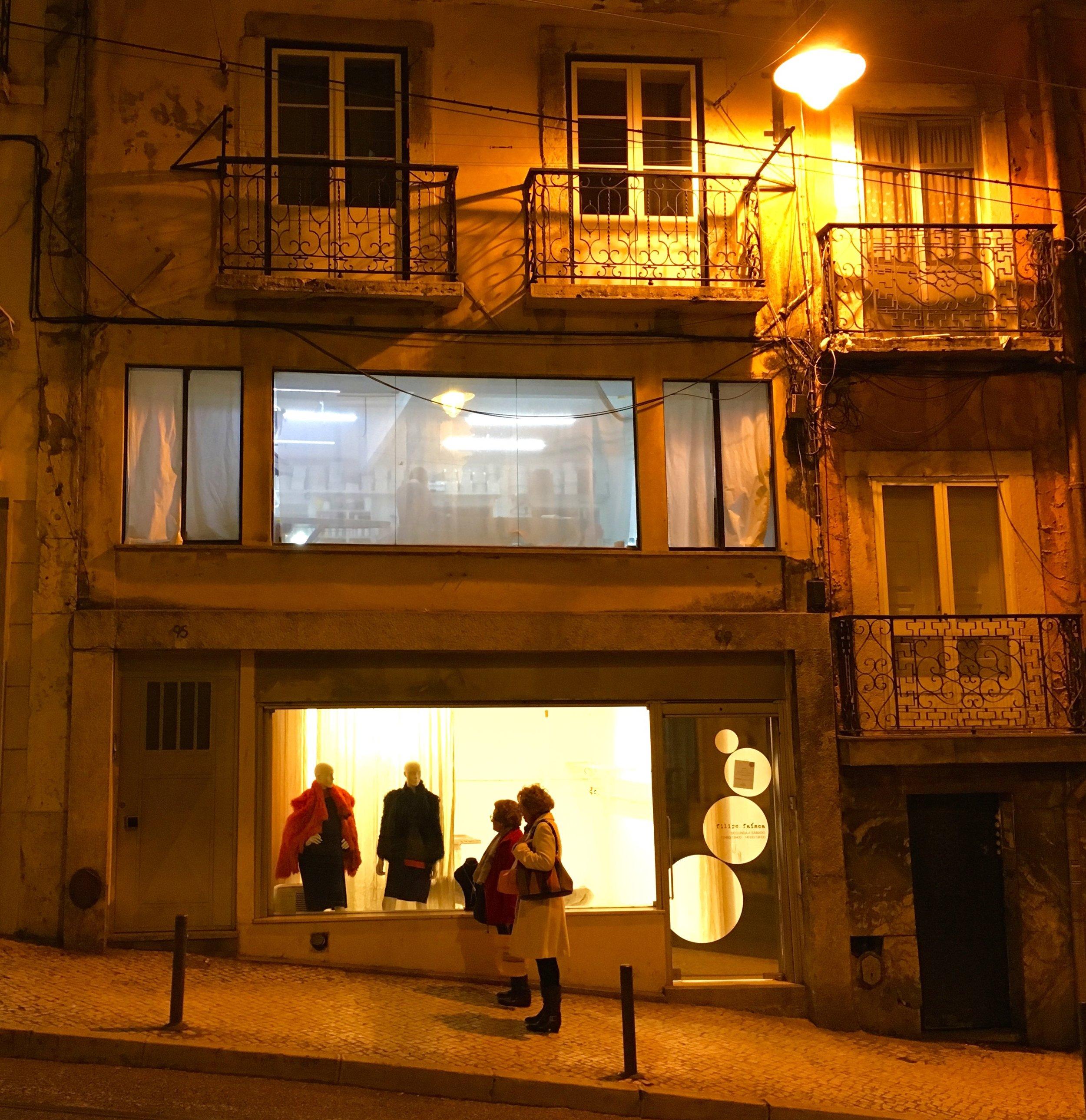 Walking up Calçada do Combro, Lisbon