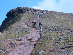 Walkers on the Brecon Beacons