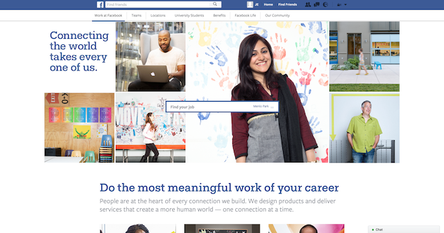Careers landing page