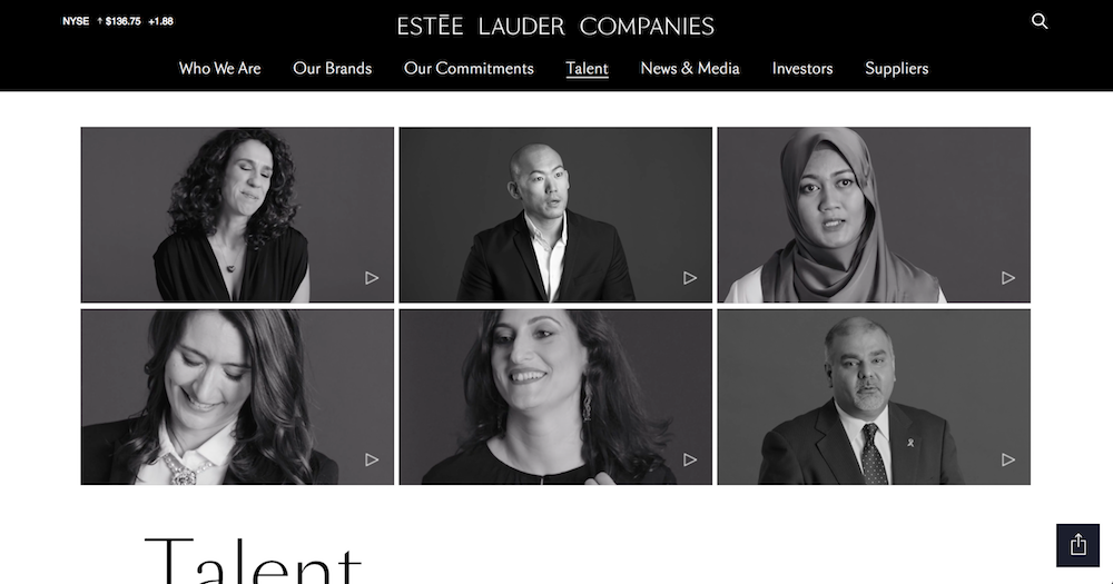From the  EL Companies 'Talent' landing page