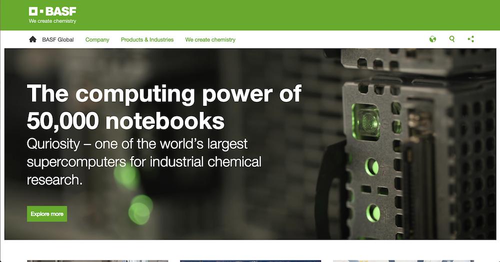 BASF's home page