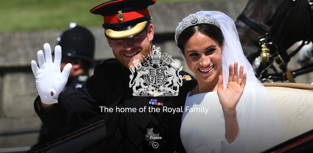 The Royal Family's website