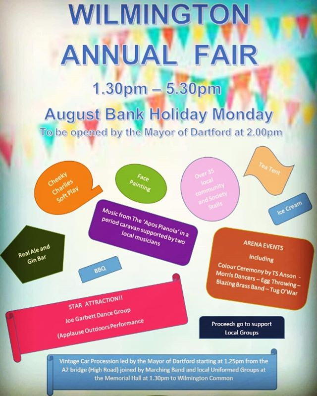 Wilmington Village Fete Bank Holiday Monday 26th August 1pm till 5pm Caveman Brewery will be in attendance