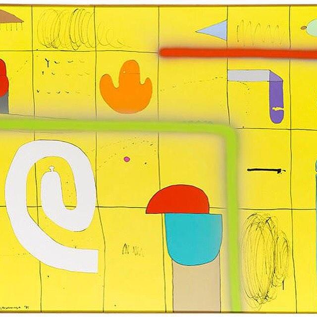 Sadamasa Motonaga, In Yellow, 1981. #westchelseabldg #nyc #art #fergusmccaffrey #chelsea