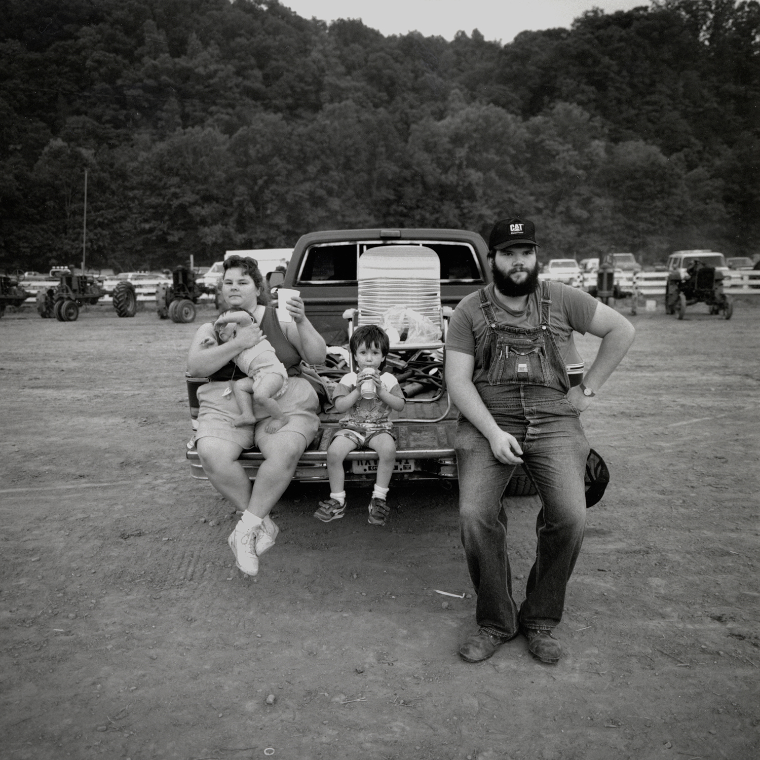 Family Waiting for the Tractor Pull, Horatio, Arkansas, archival pigment print, 16x20, 1990