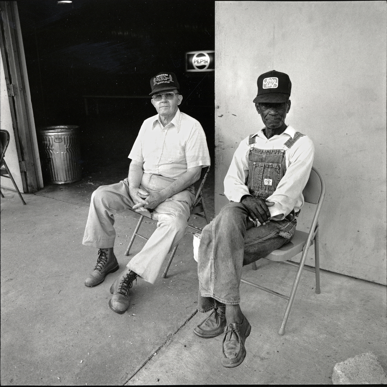 Two Men Waiting, Ripley, Mississippi, archival pigment print, 16x20, 1990