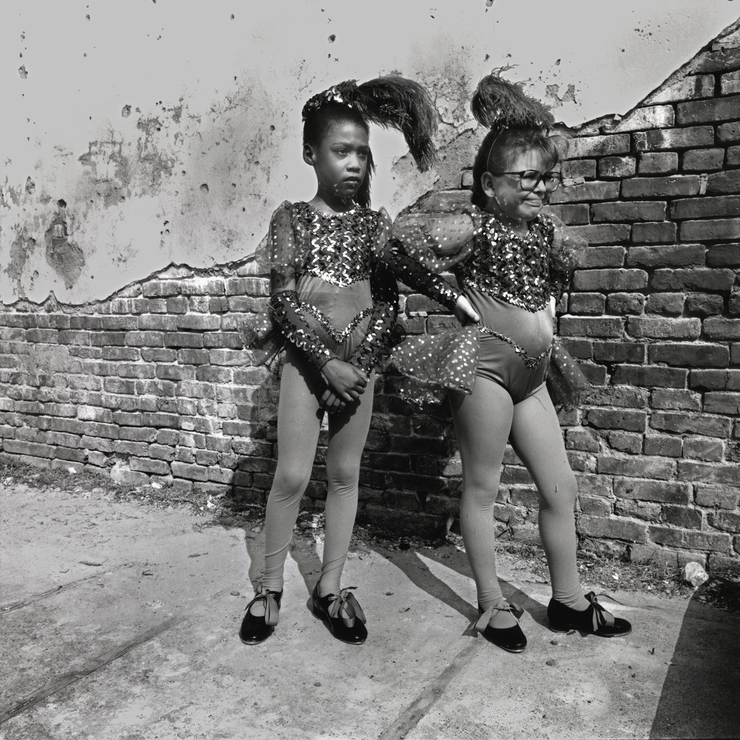 Girls Waiting to Dance, Cairo, Illinois, archival pigment print,16x20, 1990