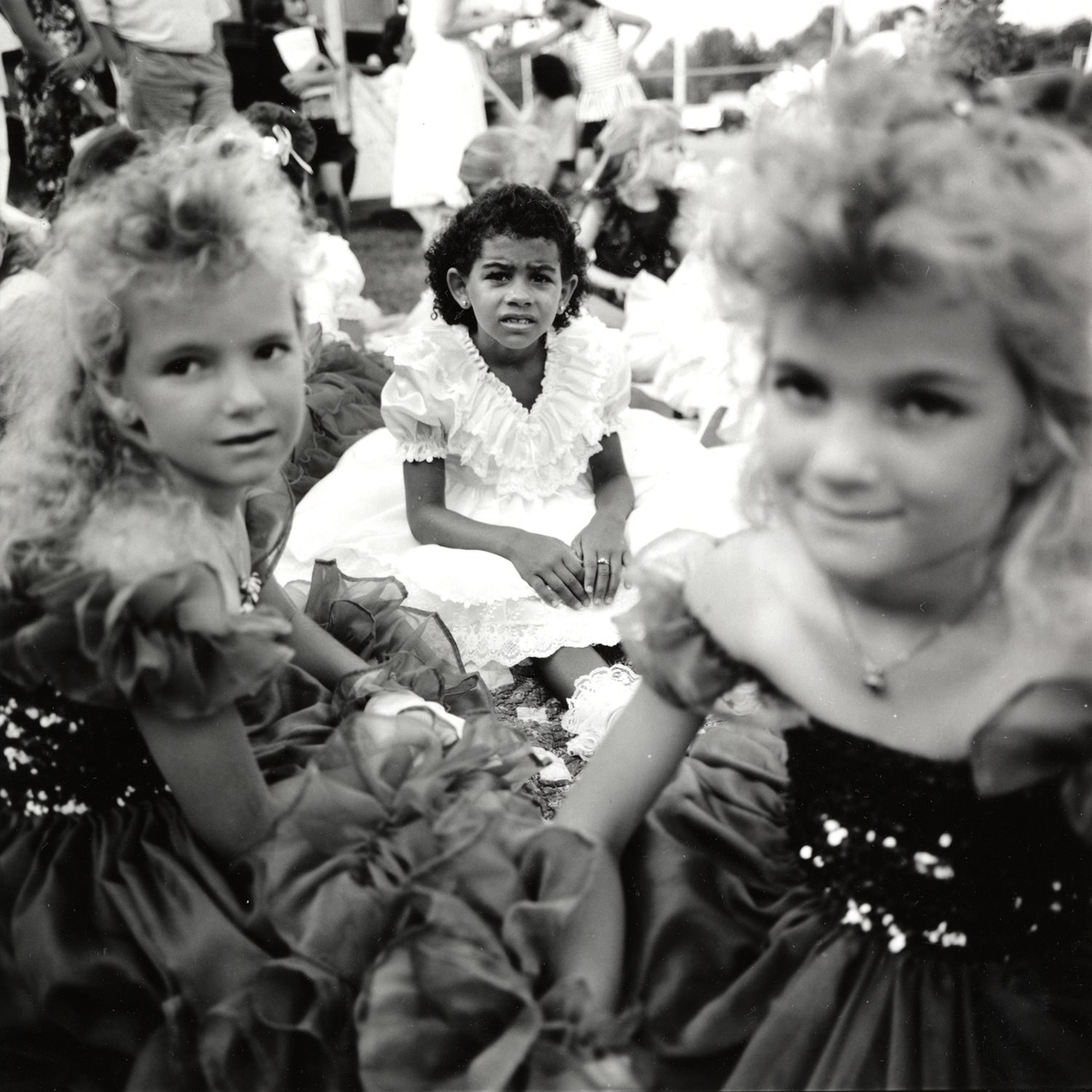 Girls at Beauty Pageant, Clarksville, Arkansas, archival pigment print,16x20, 1990