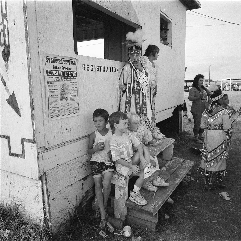 Pow Wow Registration, Mandaree, North Dakota, archival pigment print, 16x20, 1990