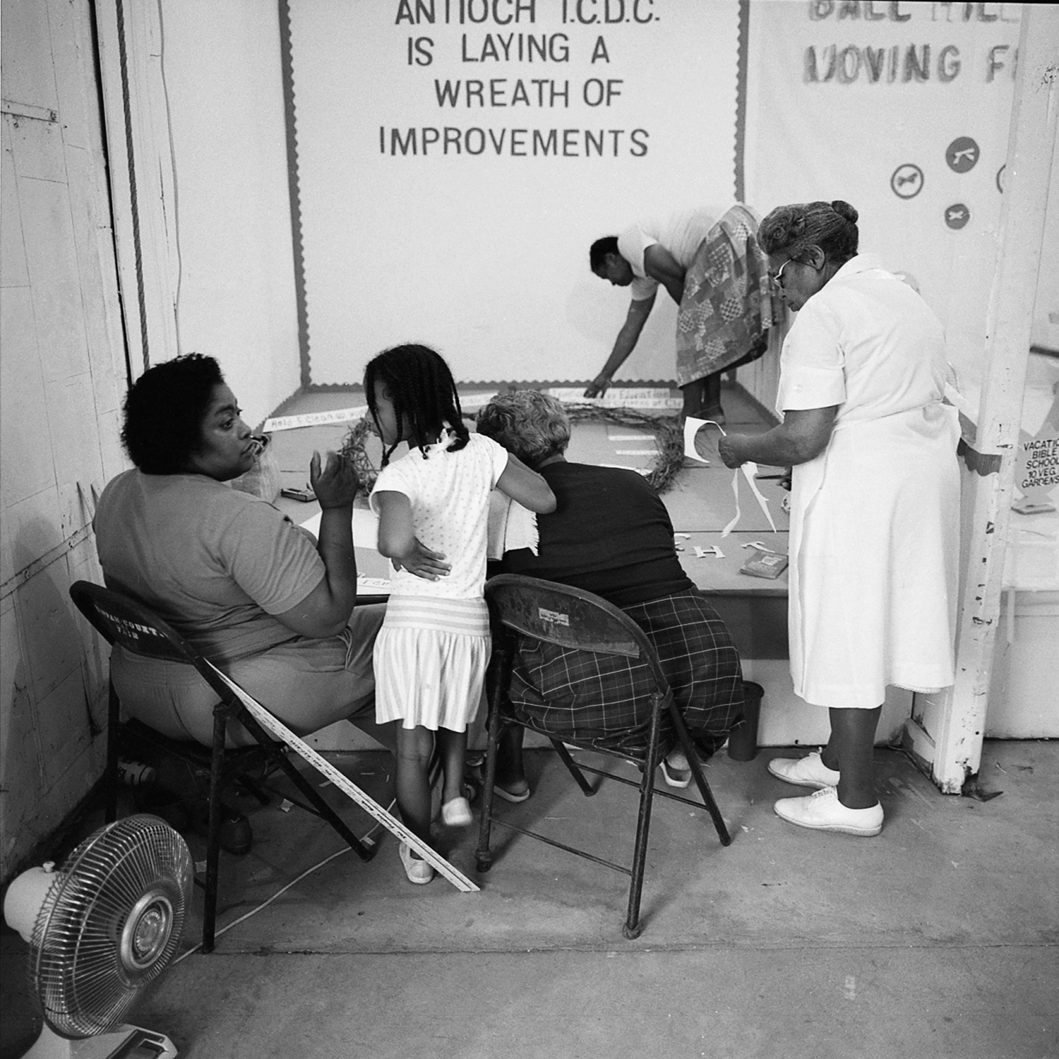 Women Preparing a Booth, Ripley, Mississippi, archival pigment print, 16x20, 1990