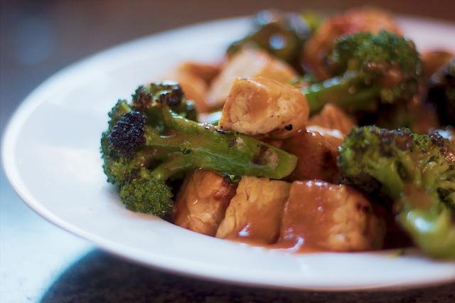 Tempeh, broccoli, miso sauce.jpg