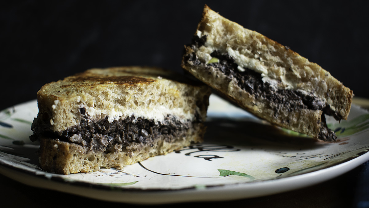 Grilled Tapenade and Almond Goat Cheese Sandwich 16x9.jpg