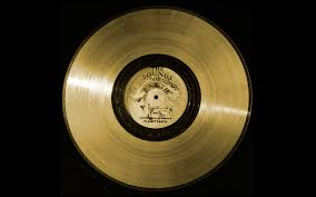 Voyager's golden record carried into space, which includes a Mozart aria. NASA. Public domain.