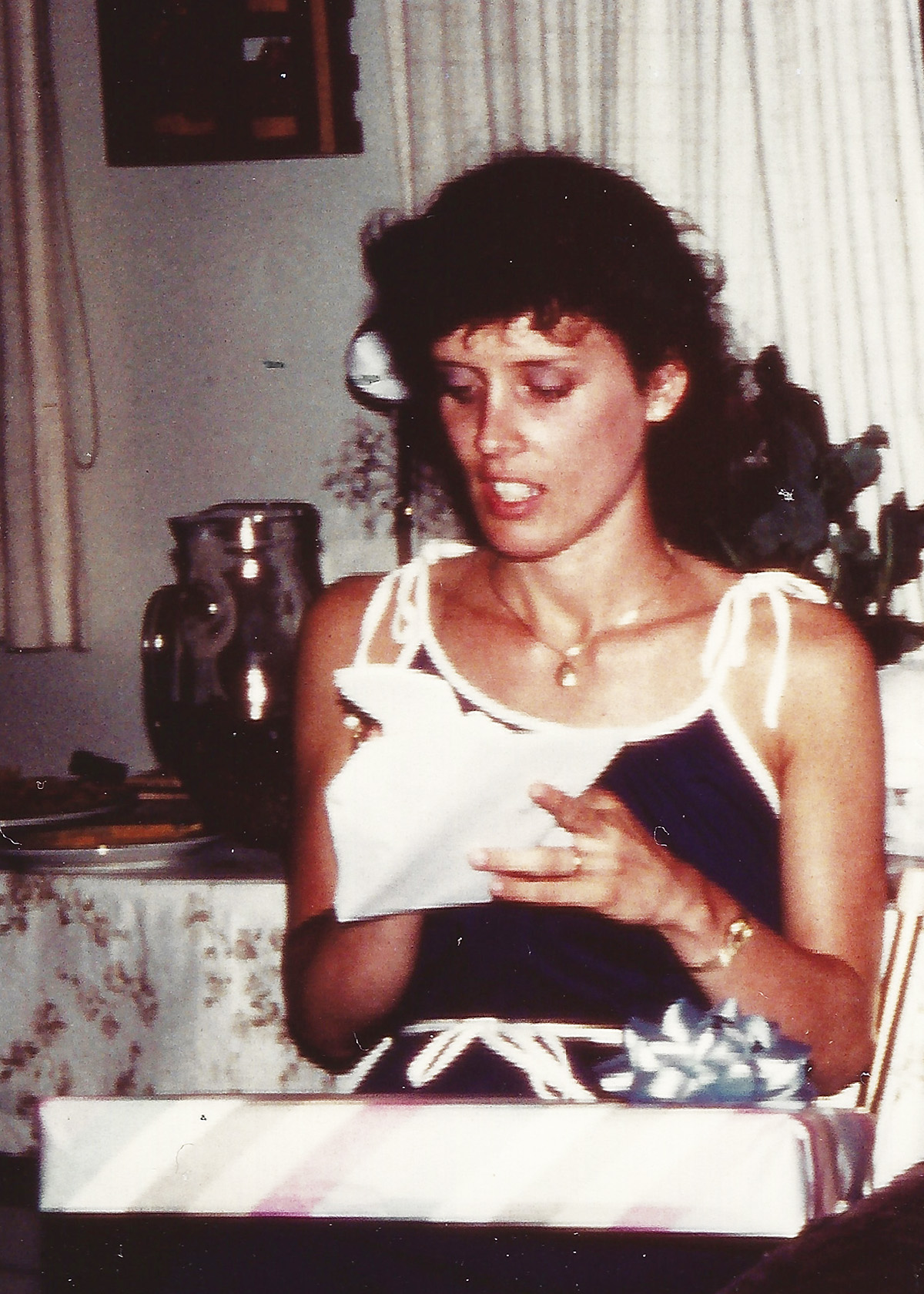 Opening wedding gifts a long time ago