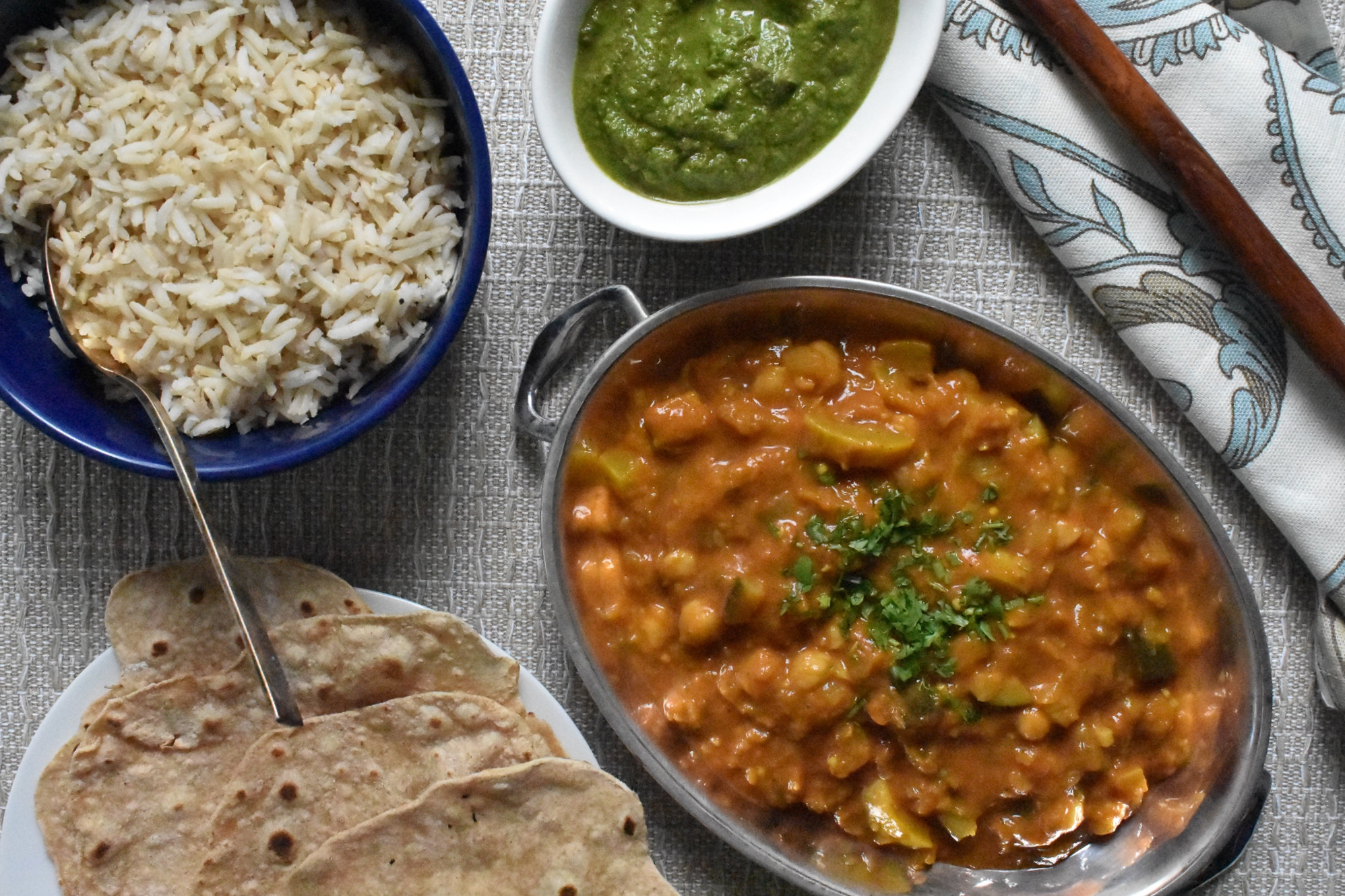 Summer Squash and Chickpea Curry