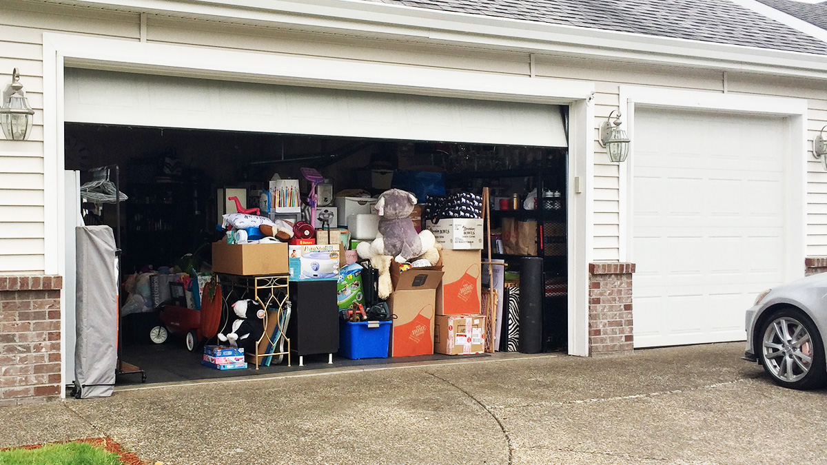 No room for cars in this neighbor's garage