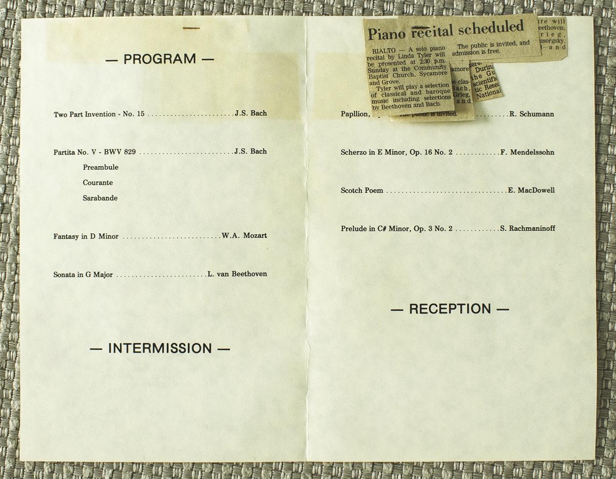 The recital program