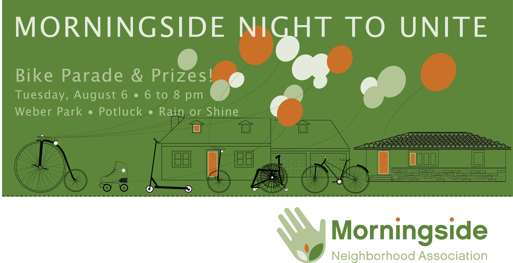 Neighborhood Night to Unite!    Tuesday, August 6, 6-8pm @ Weber Park