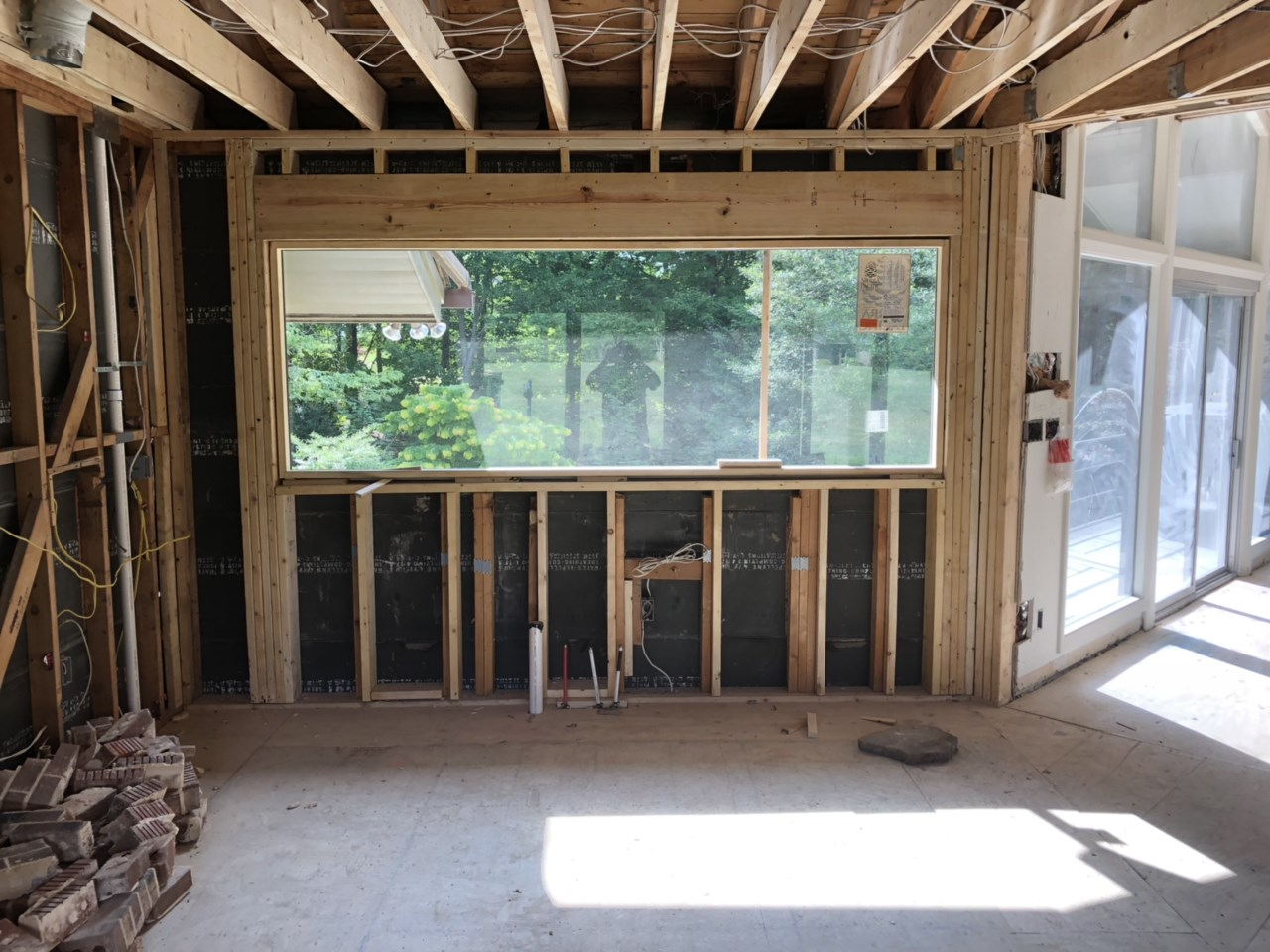The kitchen will get plenty of natural light with this new window.