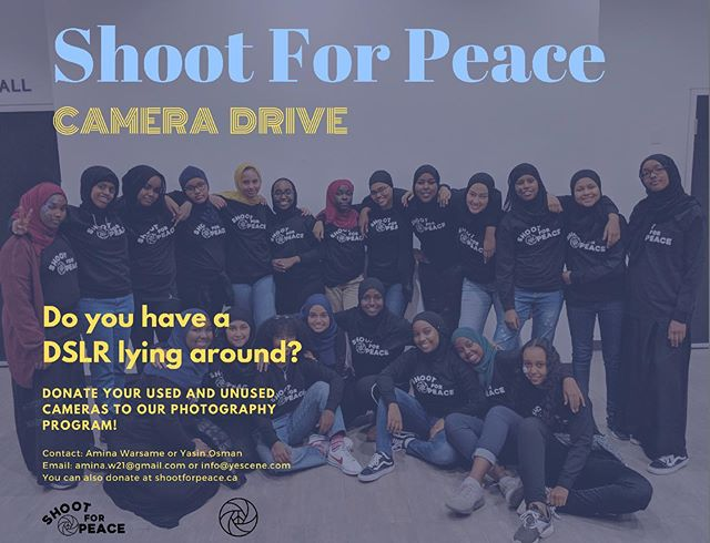 Do you have a DSLR lying around? Donate it to our photography program! 📸 ✨