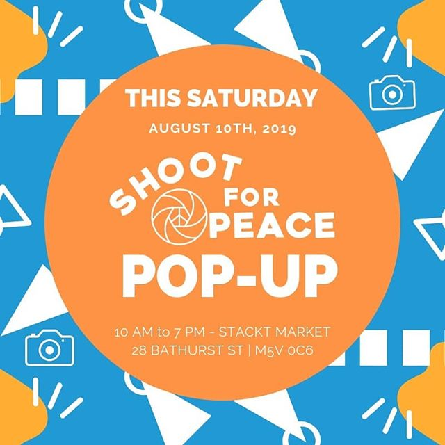 Join us this Saturday! it'll be a vibe. We'll be selling t-shirts, prints from our youth and more. Proceeds from the prints will be going back to the kids. Gently used cameras are being collected to continue and expand on community programming. Come through and hang. #ShootForPeace