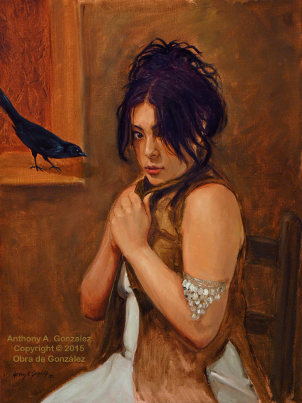 """A Little Whisper"" 24"" x 18"" Oil on Linen"