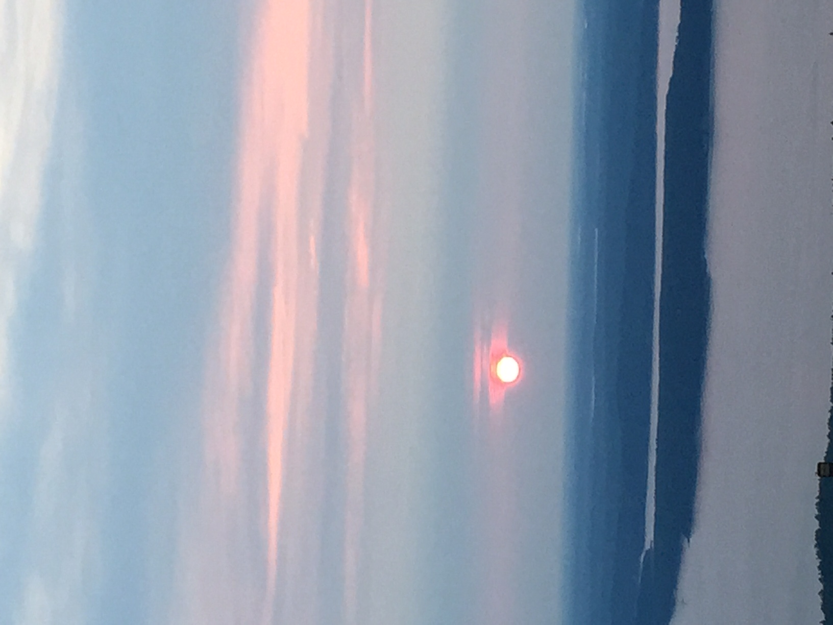 Sunrise on Cadillac mountain- first place to see the sunrise in the US.