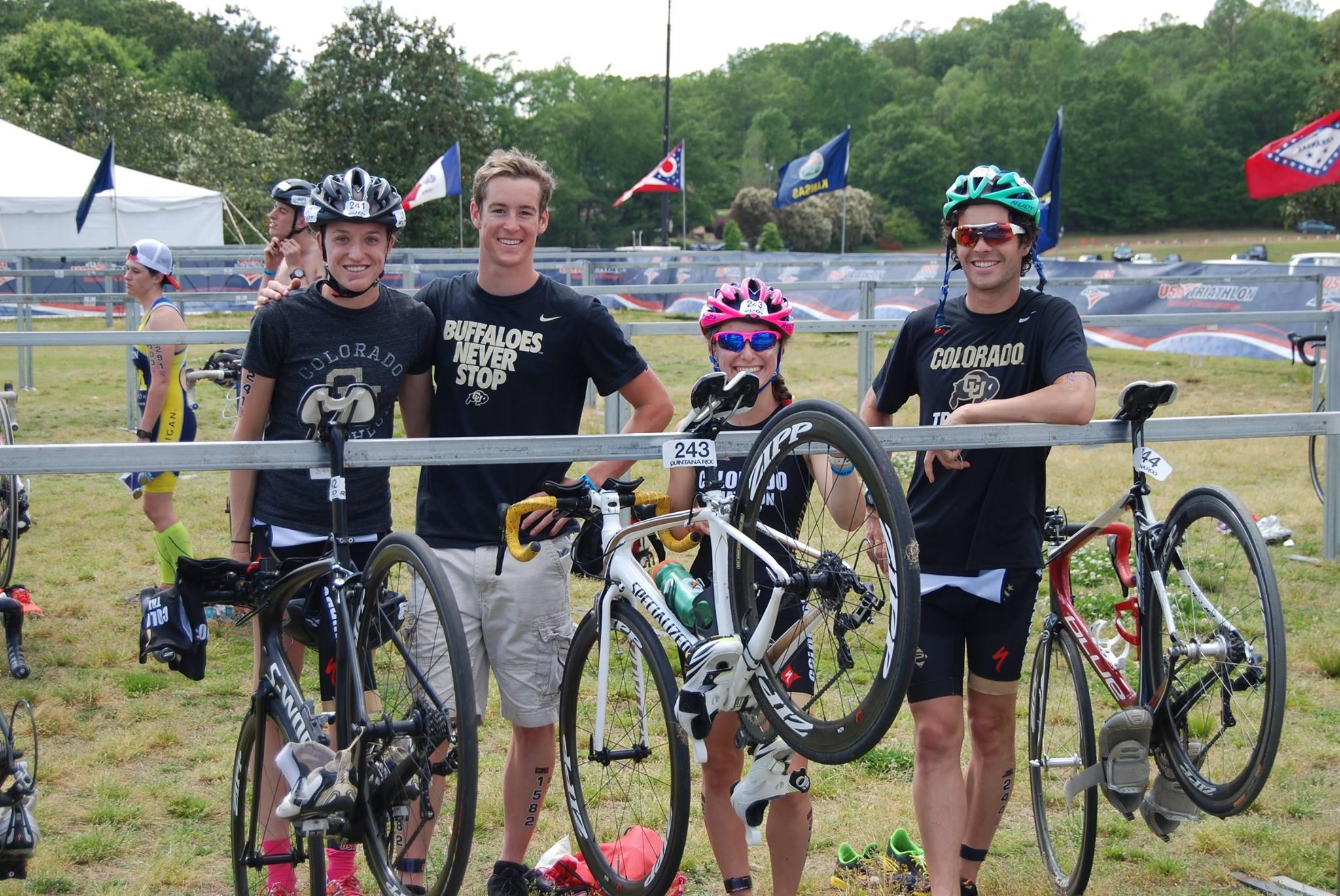Our CU team relay: Timmy Winslow, Britt Warley, Ali Schwein, and myself