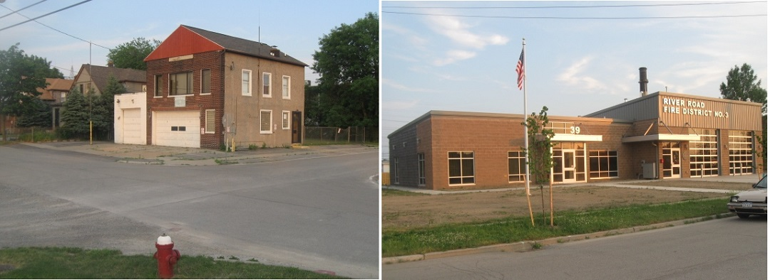 River Road Fire District Firehall Old to New