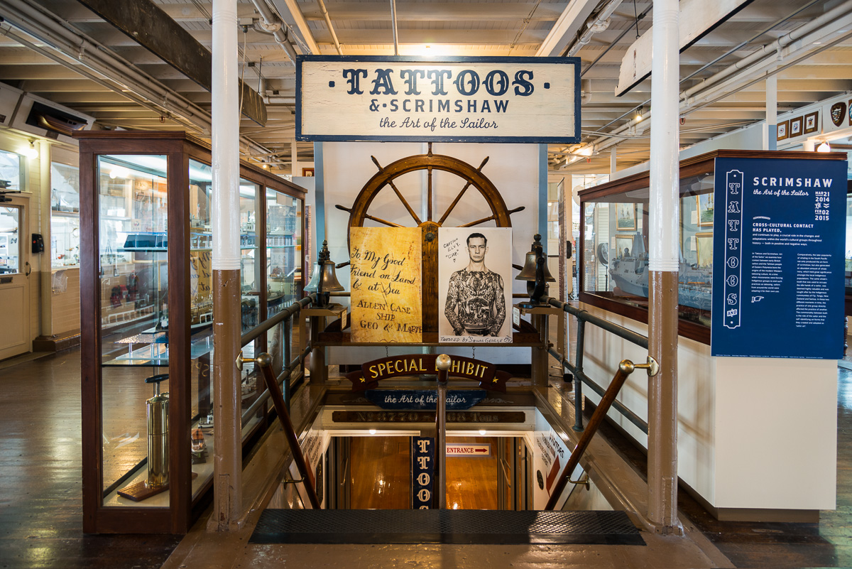 Tattoos & Scrimshaw: The Art of the Sailor, Maritime Museum San Diego, San Diego CA, March 2014