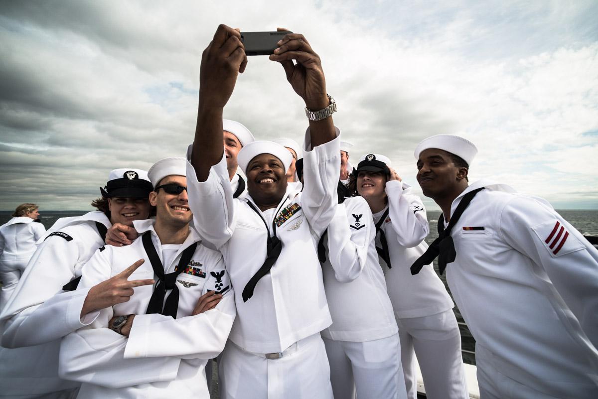 On the USS San Antonio, New York NY, May 2015