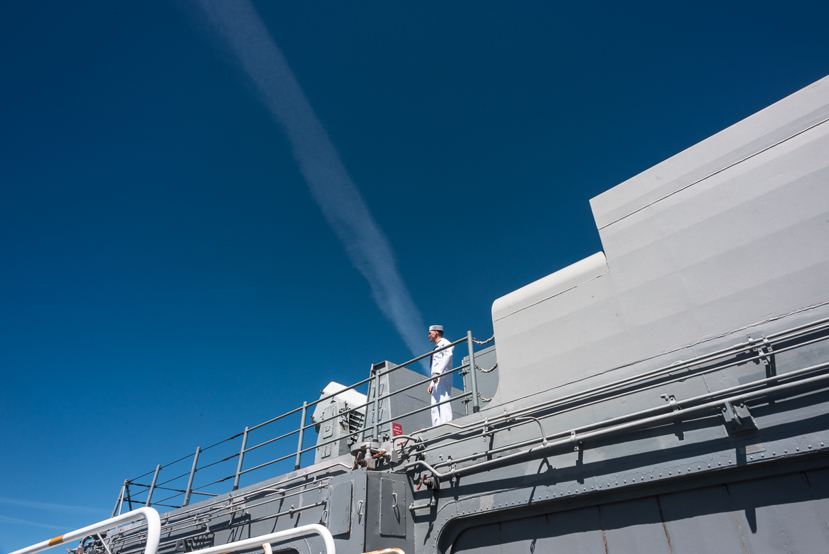 On the USS Boxer, Seattle WA, August 2015