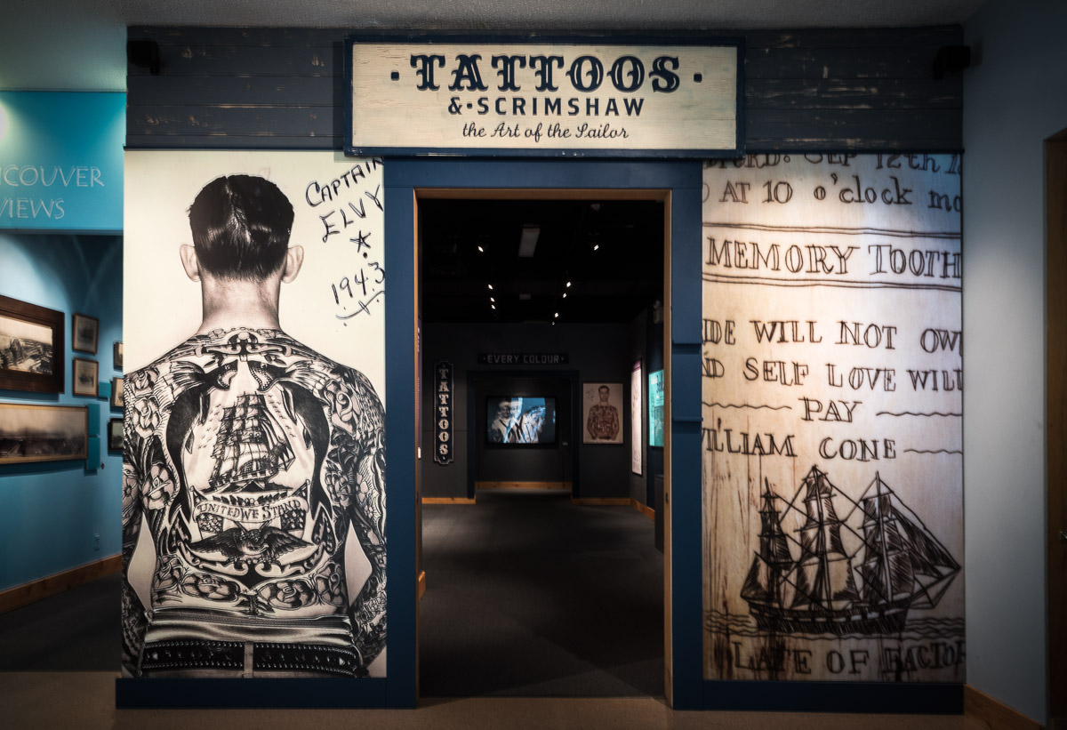 Tattoos & Scrimshaw: The Art of the Sailor, Vancouver Maritime Museum, Vancouver BC, March 2013