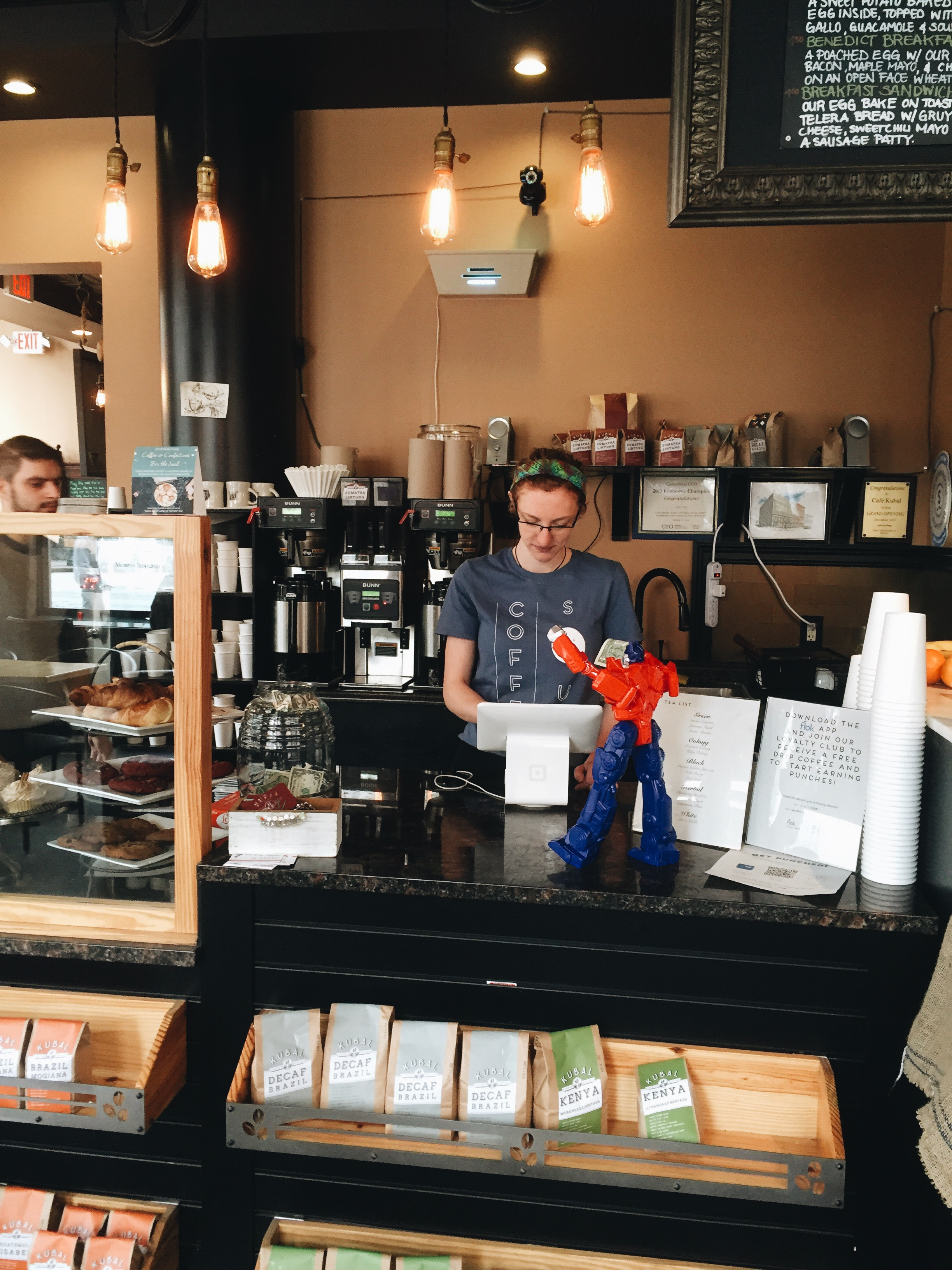 Rod loved grabbing coffee at the local coffee shops. He ran on caffeine.