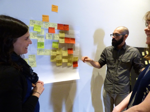 "In January 2017, our team met with a group of landlords. The landlords described their frustrations communicating with the City and with their tenants. They described how they often feel ""demonized"" and blamed for the city's greatest challenges and that at the end of the day they are businessmen and women. Again, we took post-it notes and charted the code violation journey that landlords experience."