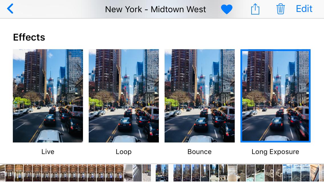 Ustawienia efektów zdjęć w telefonie