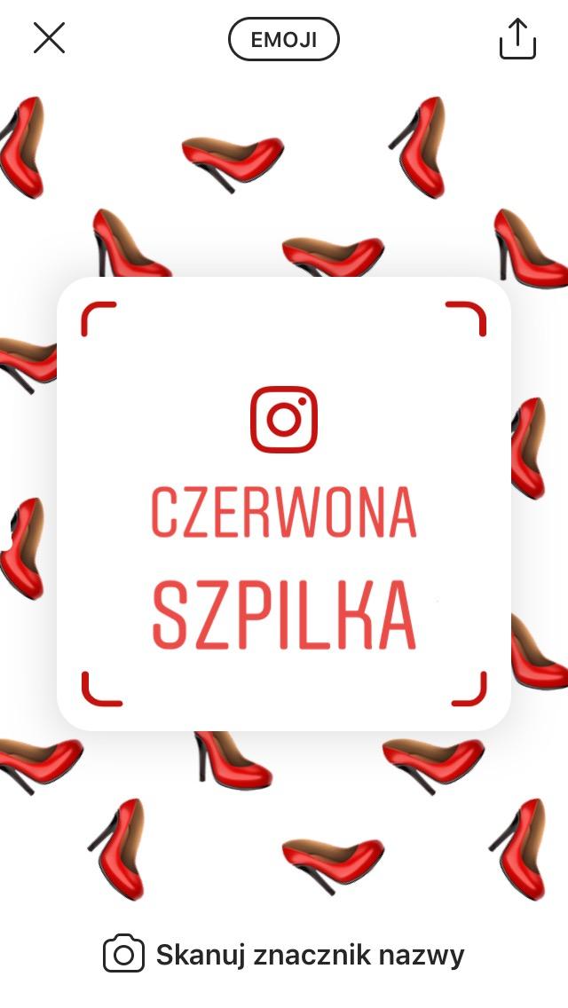 Znacznik nazwy na Instagramie