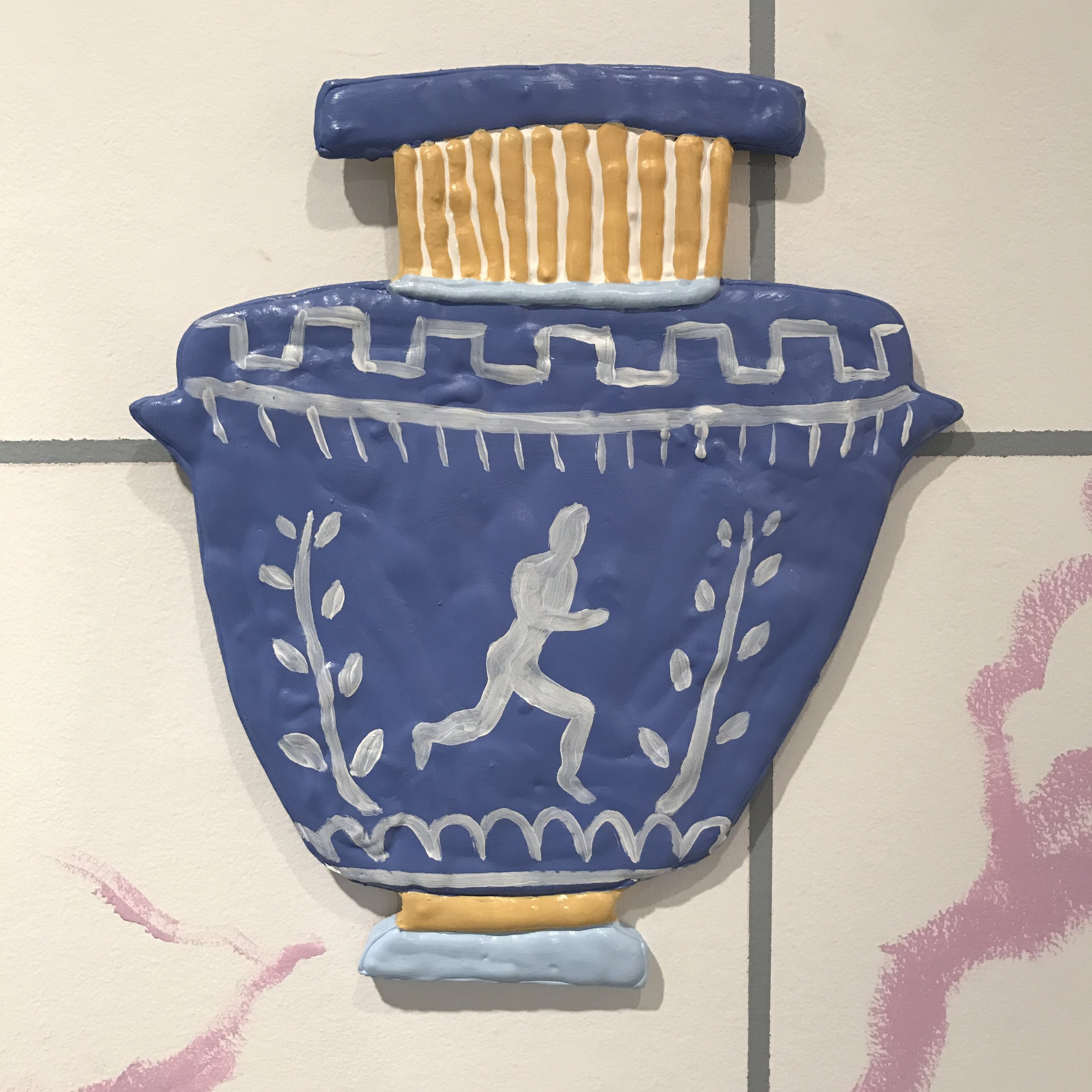 Running Man Amphora