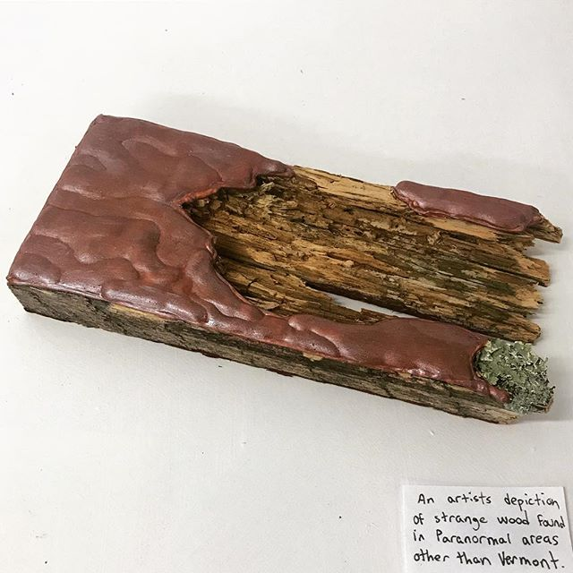 an artist's depiction of wood found at paranormal locations other than Vermont.