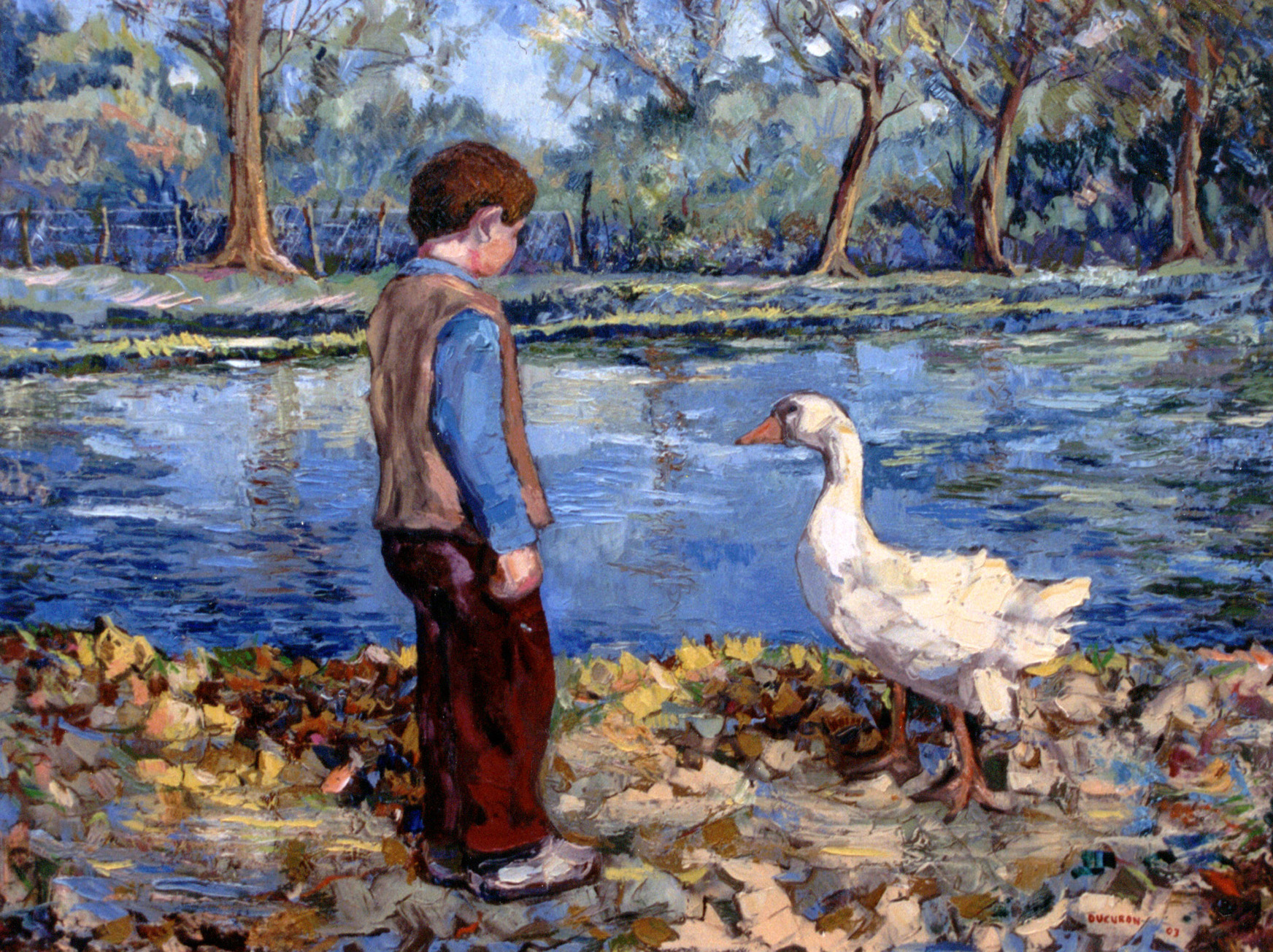 """1 - """"The boy and the goose"""""""