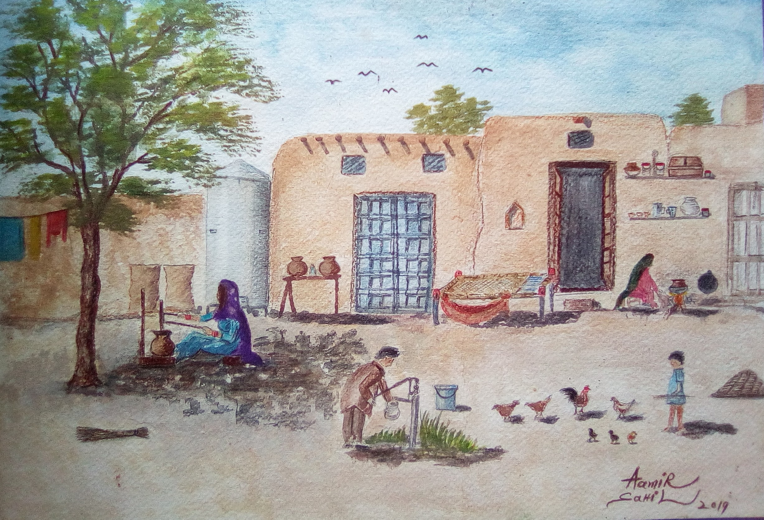 Watercolor on paper    8 x 12 inches    Price: 4000 USdollars