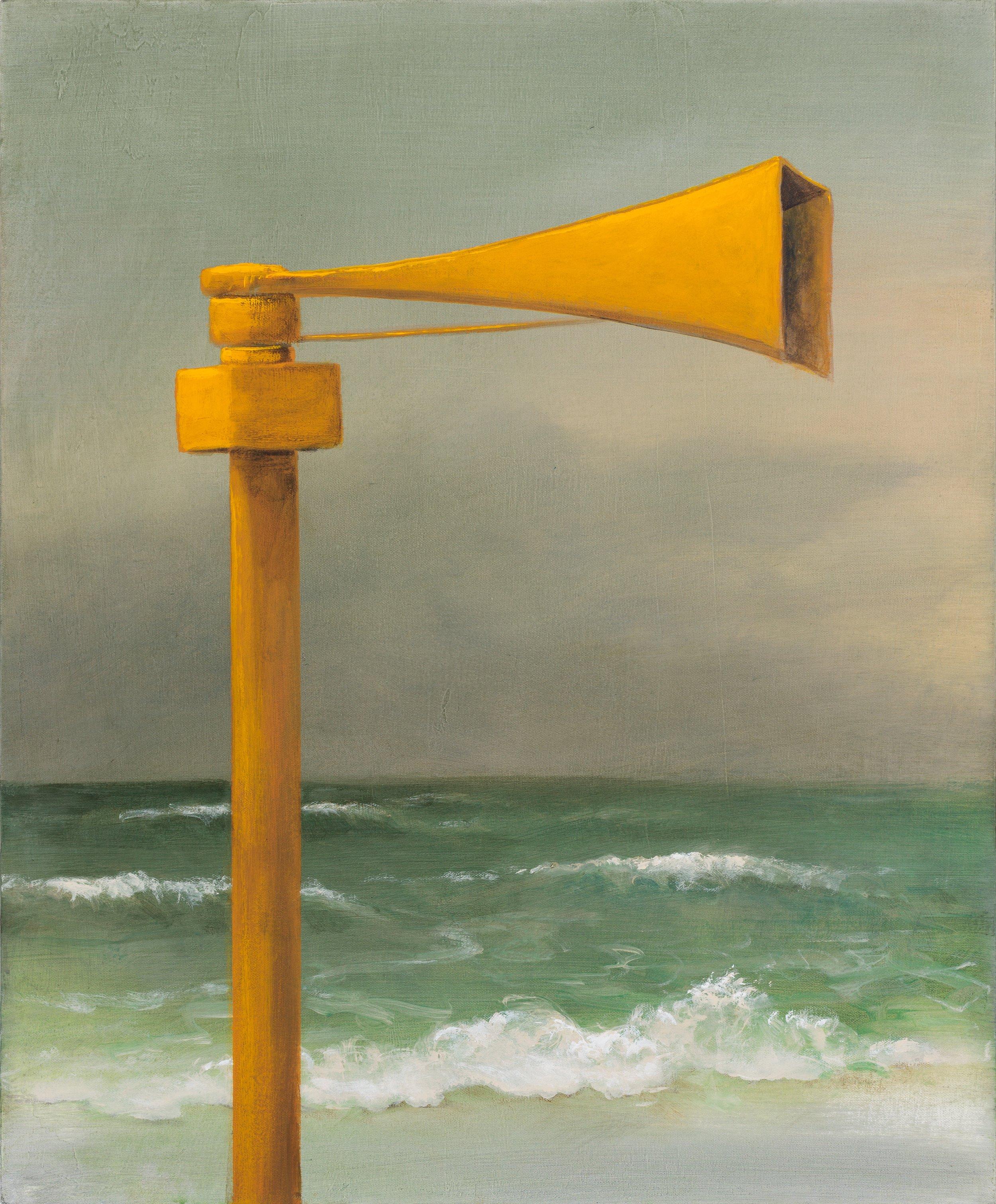 """Siren: The Flood, 24'x20"""", acrylic on canvas"""