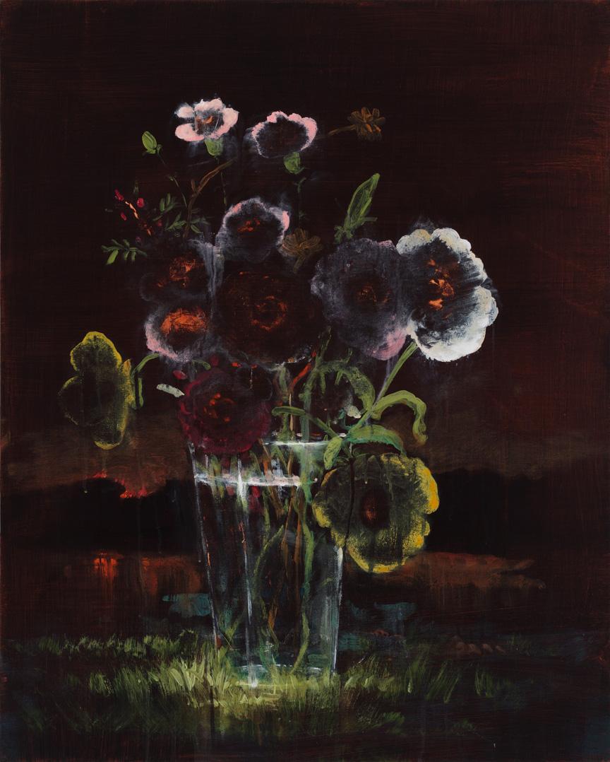 """Hothouse Flowers, 30""""x24"""", acrylic on canvas"""