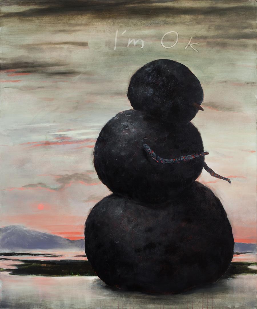 """Saint Snow, 72""""x60"""", acrylic on canvas"""