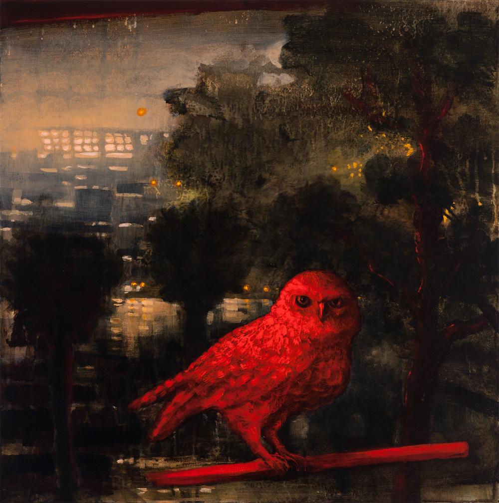"""The Hidden Bird, 24""""x24"""""""