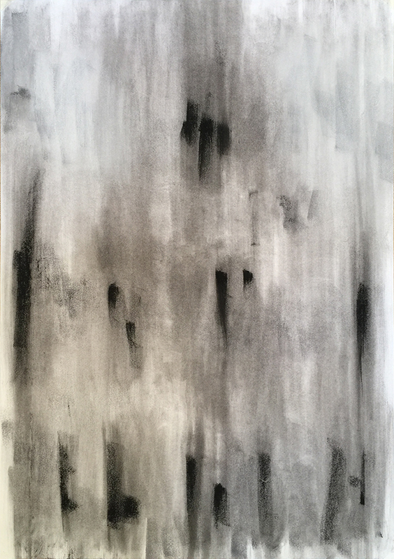 New values #2 . Charcoal on paper. 33 x 23 inches
