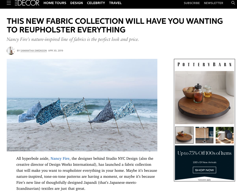 Elle Decor Fabric Collection Article