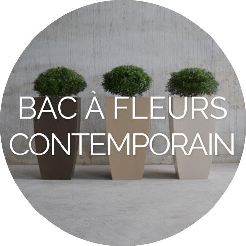 Bac à fleurs contemporain