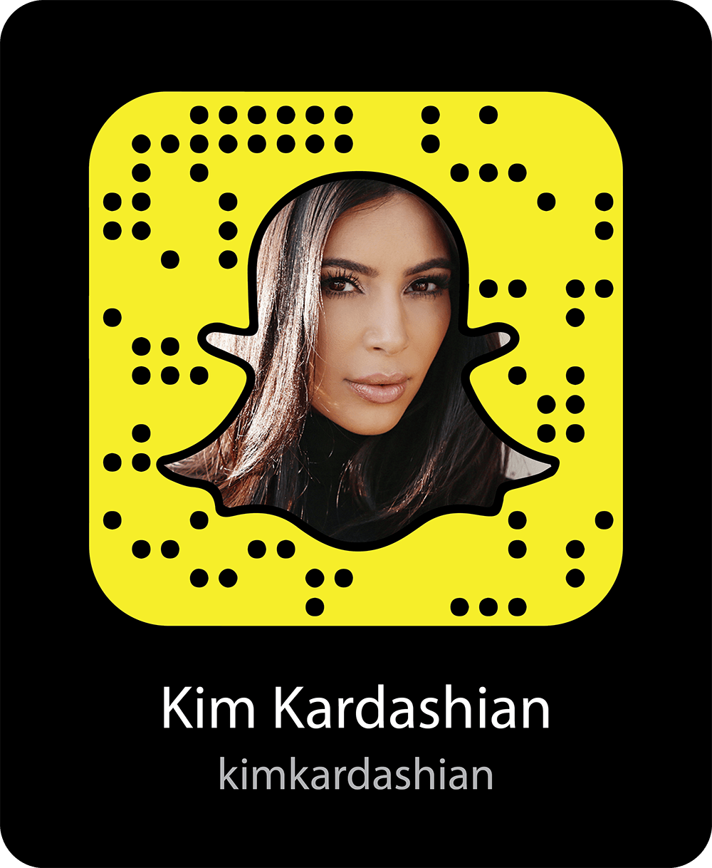 Celebrities Famous People To Follow On Snapchat Snap Codes
